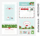 christmas templates set. letter ... | Shutterstock .eps vector #482532040