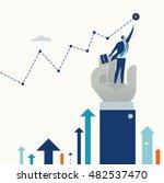 helping to reach a goal.... | Shutterstock .eps vector #482537470