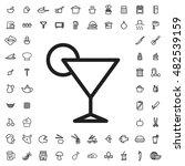 cocktail icon illustration...   Shutterstock .eps vector #482539159