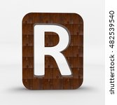 the letter r carved into the...   Shutterstock . vector #482539540