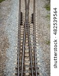 junction of two rail track | Shutterstock . vector #482539564