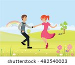 valentine's day card  vector... | Shutterstock .eps vector #482540023