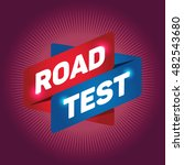 road test arrow tag sign. | Shutterstock .eps vector #482543680