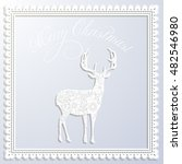 vector merry christmas white... | Shutterstock .eps vector #482546980
