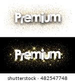 premium paper banner with...