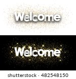welcome white paper banner with ... | Shutterstock .eps vector #482548150