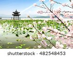 chinese ancient pavilion on the ... | Shutterstock . vector #482548453