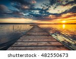 Small Dock And Boat At The Lak...