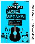 when words fail  music speaks   ... | Shutterstock .eps vector #482551459