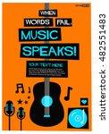 when words fail  music speaks   ... | Shutterstock .eps vector #482551483