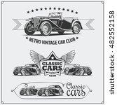 vintage cars set. retro cars... | Shutterstock .eps vector #482552158