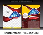 abstract bakery shop flyer... | Shutterstock .eps vector #482555083