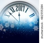 2017 new year blue background... | Shutterstock .eps vector #482555284