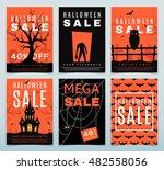set of posters for halloween... | Shutterstock .eps vector #482558056