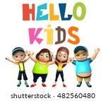 3d rendered illustration of kid ... | Shutterstock . vector #482560480