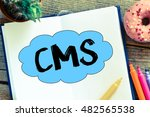 cms.  notes about cms concept | Shutterstock . vector #482565538