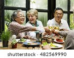 cafe diverse casual friendship... | Shutterstock . vector #482569990