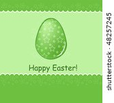easter greetings card with text ... | Shutterstock .eps vector #48257245