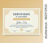 elegant certificate of... | Shutterstock .eps vector #482572924