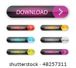vector web 2.0 buttons set for  ... | Shutterstock .eps vector #48257311