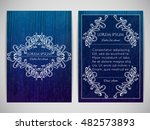 cover design with ornamental... | Shutterstock .eps vector #482573893