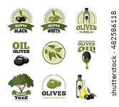 big labels set of olives  tree ... | Shutterstock . vector #482586118