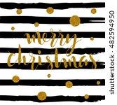 merry christmas lettering... | Shutterstock .eps vector #482594950