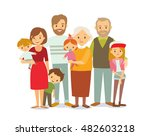 family portrait | Shutterstock .eps vector #482603218