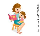 Vector Illustration Mother Mum...