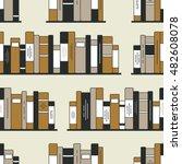 bookshelves hand drawn vector.... | Shutterstock .eps vector #482608078