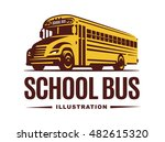 School Bus Illustration On...