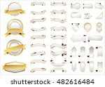 ribbon vector icon silver color ... | Shutterstock .eps vector #482616484