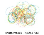 colored rubber rings on the... | Shutterstock . vector #48261733
