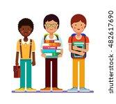 school or college boys... | Shutterstock .eps vector #482617690