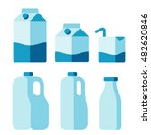 set of milk container icons.... | Shutterstock .eps vector #482620846