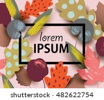 vector card with colorful... | Shutterstock .eps vector #482622754
