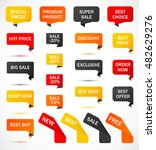 vector stickers  price tag ... | Shutterstock .eps vector #482629276