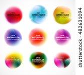 set of watercolor blobs  ... | Shutterstock .eps vector #482631094