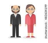 adults characters   a man and a ... | Shutterstock .eps vector #482634199