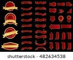 ribbon vector icon red color on ... | Shutterstock .eps vector #482634538