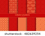set of seamless ornaments. east ... | Shutterstock .eps vector #482639254
