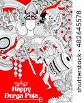 Illustration Of Goddess Durga...