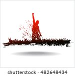 banner for sporting events and... | Shutterstock .eps vector #482648434
