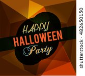 halloween party background with ... | Shutterstock .eps vector #482650150
