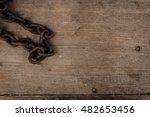 grunge rusty steel reel chain...   Shutterstock . vector #482653456