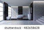 3d rendering image of toilet... | Shutterstock . vector #482658628