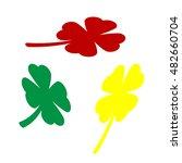 leaf clover sign. isometric...