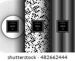 set of optical art patterns for ...