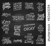 hand drawn lettering slogans.... | Shutterstock .eps vector #482663254