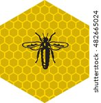 Outline Bee Vector  Logo  Labe...